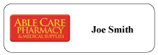 Able Care Pharmacy Name Badge